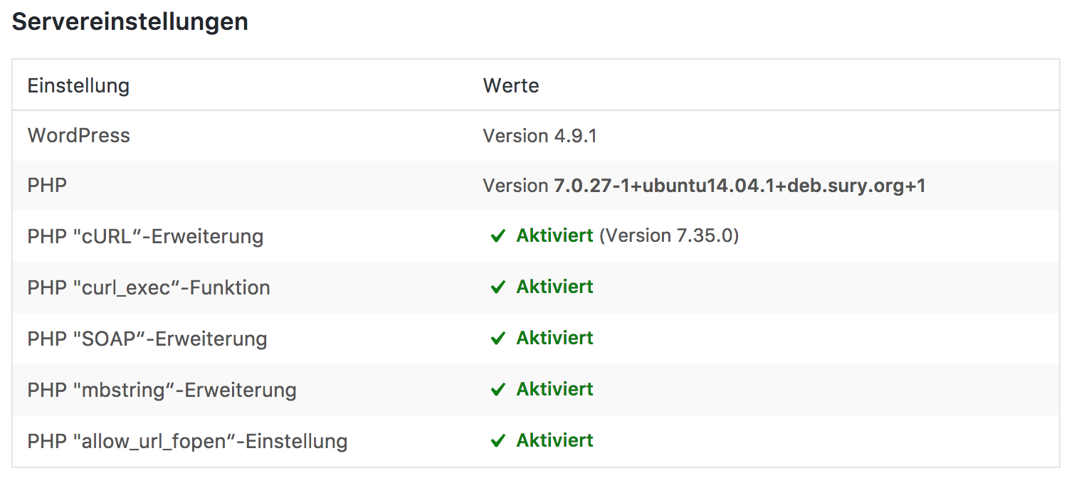 PHP SOAP Erweiterung - Amazon Affiliate WordPress Plugin