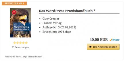 AAWP - Amazon Affiliate WordPress Plugin - Bestseller Liste