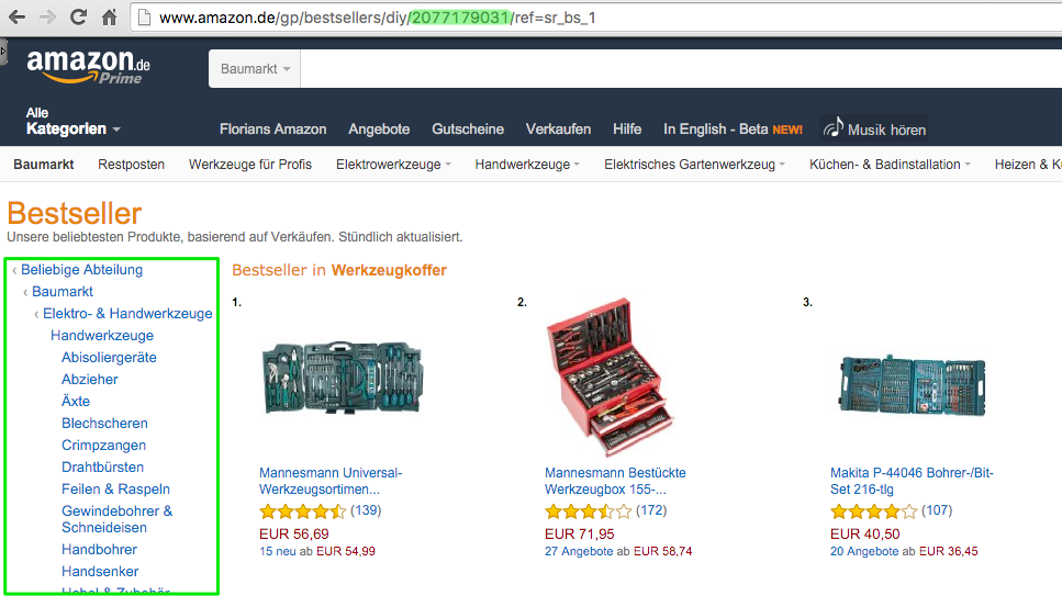 Amazon Affiliate WordPress Plugin - Produktgruppen IDs - Browse Nodes - Browser