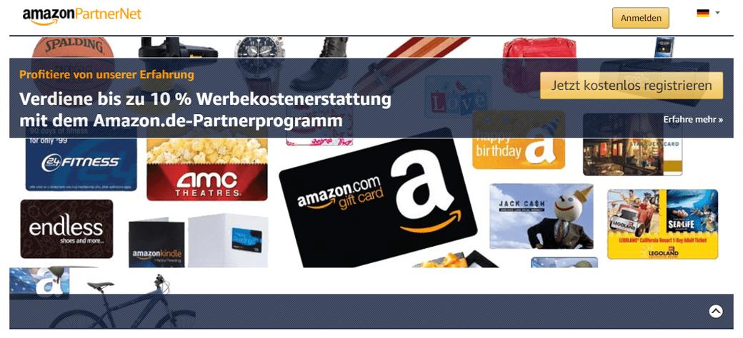 Amazon Partnerprogramm Anmeldung - Affiliate Marketing
