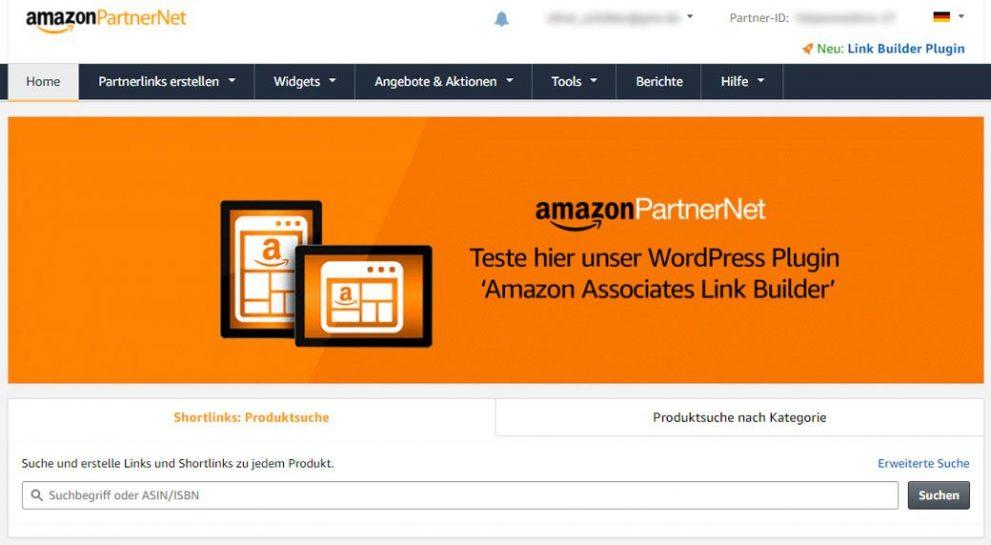 Amazon PartnerprogrammBackend - Affiliate Marketing