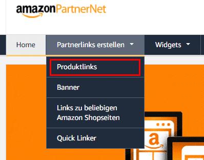Amazon PartnerNet Produktlinks - Affiliate Marketing