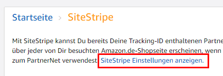 Amazon PartnerNet SiteStripe - Affiliate Marketing