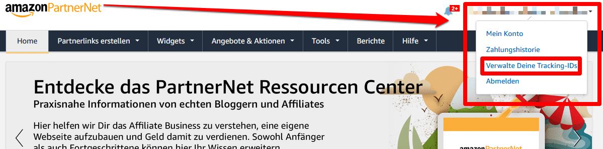 Amazon Partnernet Tracking IDs