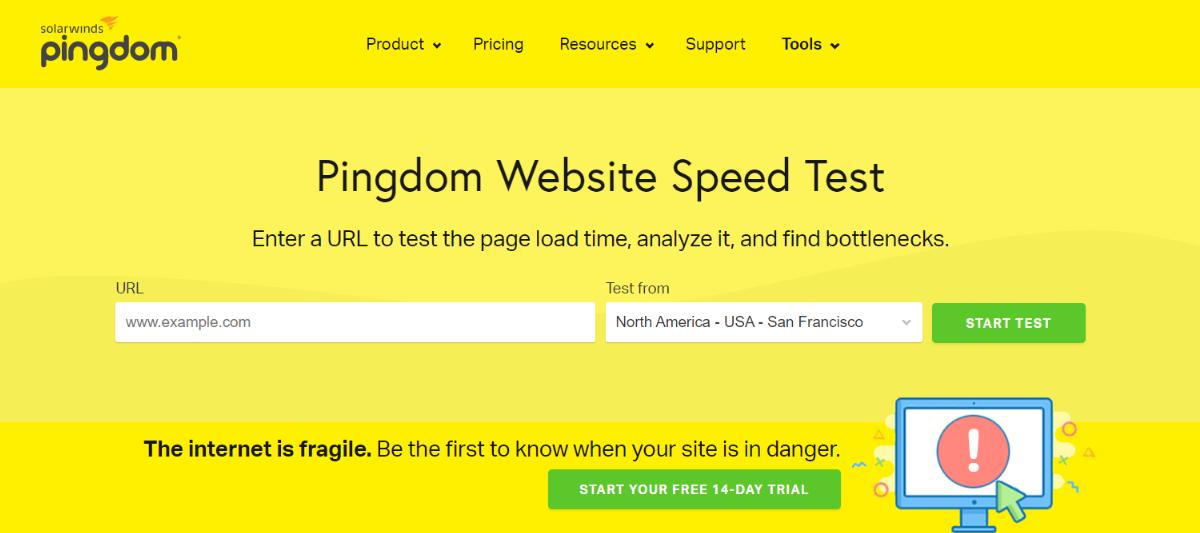 Pingdom Homepage