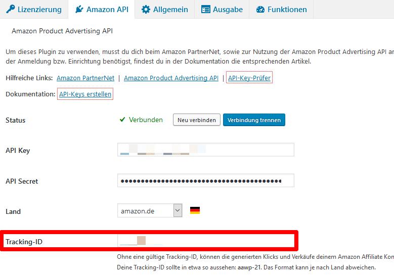 Amazon Tracking-ID